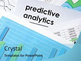 Top business analytics powerpoint templates backgrounds slides and theme having prediction predictive analytics written in a background and a light blue colored foreground toneelgroepblik Images