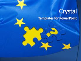 European union powerpoint templates crystalgraphics slide set with european union puzzle piece with question mark background and a cobalt blue toneelgroepblik Image collections