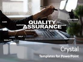 500 quality assurance system powerpoint templates w quality beautiful ppt theme featuring quality assurance concept on the virtual screen business concept backdrop and a toneelgroepblik Choice Image