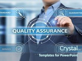 5000 quality assurance powerpoint templates w quality assurance beautiful theme featuring quality assurance service guarantee standard backdrop and a ocean colored foreground toneelgroepblik Choice Image