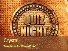 Quiz competition powerpoint templates crystalgraphics ppt theme consisting of quiz night 3d rendering metal background and a tawny brown colored foreground toneelgroepblik Image collections