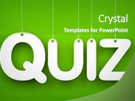 5000 quiz powerpoint templates w quiz themed backgrounds amazing presentation design having quiz word hanging backdrop and a shamrock green colored foreground toneelgroepblik Choice Image