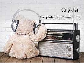 5000 radio frequency powerpoint templates w radio frequency themed colorful ppt theme enhanced with radio sad broadcasting wallpaper floor backdrop and a light gray colored toneelgroepblik Images
