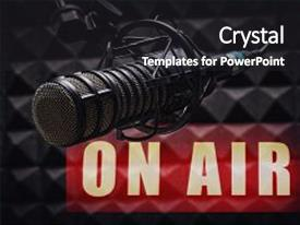 5000 radio powerpoint templates w radio themed backgrounds slides having stations a microphone in background and a dark gray colored foreground toneelgroepblik Choice Image