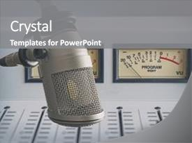 5000 radio powerpoint templates w radio themed backgrounds presentation theme consisting of radio stations professional microphone background and a gray colored foreground toneelgroepblik Images