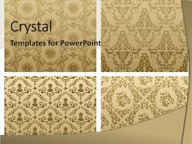 Presentation design featuring raster seamless vintage backgrounds brown background and a coral colored foreground.