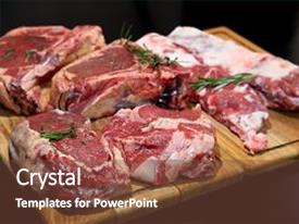 5000 meat powerpoint templates w meat themed backgrounds amazing presentation having raw fresh ribeye steak backdrop and a tawny brown colored toneelgroepblik Gallery