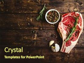 5000 meat powerpoint templates w meat themed backgrounds beautiful presentation theme featuring raw marbled meat steak pepper herbs garlic old wooden background space for toneelgroepblik Gallery