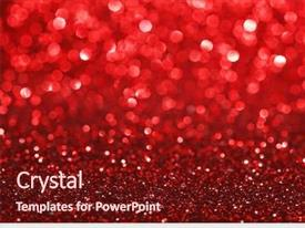Presentation enhanced with red bokeh holiday textured glitter background and a tawny brown colored foreground