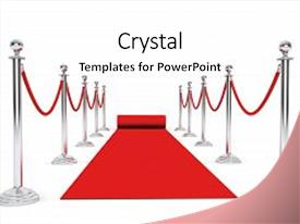 Presentation theme with hollywood - red carpet and barrier rope background and a white colored foreground.