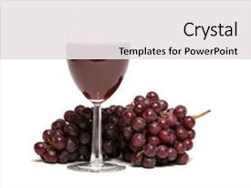 5000 wine and grapes powerpoint templates w wine and grapes themed beautiful slide set featuring red grapes and a glass backdrop and a white colored foreground toneelgroepblik Images
