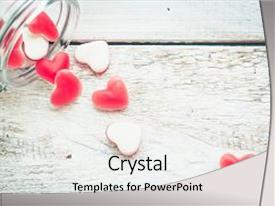 Cool new theme with red heart shape candy in backdrop and a white colored foreground.
