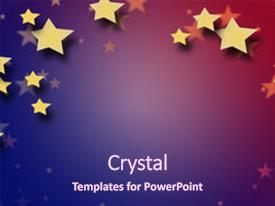 PPT layouts featuring gold star - red white and blue background background and a violet colored foreground.