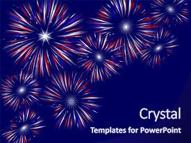 PPT theme having red white and blue background and a navy blue colored foreground.