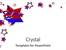 Amazing slide deck having red white and blue backdrop and a white colored foreground.