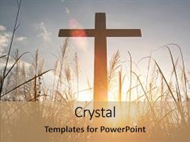 5000 crucifixion powerpoint templates w crucifixion themed backgrounds ppt theme enhanced with religious cross crucifixion of jesus christ at sunset background and a coral toneelgroepblik Gallery