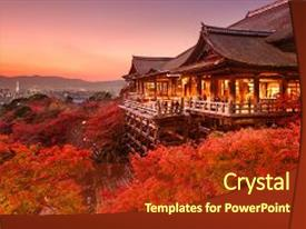 5000 Japan Temple Powerpoint Templates W Japan Temple Themed
