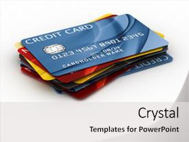 Cool new slides with rendering of a credit card backdrop and a white colored foreground.