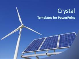 5000 renewable energy powerpoint templates w renewable energy amazing theme having renewable energy windmill and solar panel backdrop and a ocean colored foreground toneelgroepblik Gallery