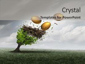 Beautiful PPT layouts featuring retirement fund crisis concept backdrop and a light gray colored foreground.