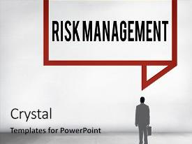 Slides having risk management analysis security safety concept background and a white colored foreground