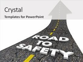 5000 road safety powerpoint templates w road safety themed backgrounds ppt layouts having road to safety security reduce background and a white colored foreground toneelgroepblik Gallery