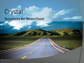 PPT layouts having road to the future background and a light blue colored foreground.