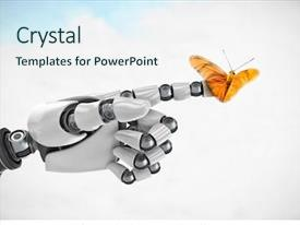 100+ Robot-hand-with-a-glowing PowerPoint Templates w/ Robot