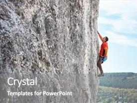 5000 rock powerpoint templates w rock themed backgrounds ppt theme consisting of rock climber on a rock a man climbs the rock on the toneelgroepblik Choice Image
