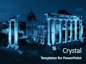 5000 ancient roman architecture powerpoint templates w ancient ppt theme with rome forum with ruins background and a navy blue colored foreground toneelgroepblik Images