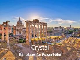 5000 roman architecture powerpoint templates w roman architecture presentation theme having rome sunrise city skyline at rome forum roman forum rome italy background and toneelgroepblik Gallery