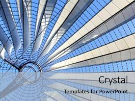 PPT layouts consisting of dome interior - roof construction - abstract architectural background and a light blue colored foreground.