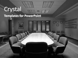 PPT theme consisting of room in black and white background and a dark gray colored foreground.