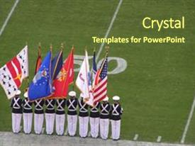 Army rotc powerpoint templates crystalgraphics cool new presentation theme with rotc cadets lined up backdrop and a tawny brown colored foreground toneelgroepblik Choice Image