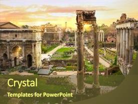 5000 roman architecture powerpoint templates w roman architecture presentation having ruins of roman s forum background and a tawny brown colored foreground toneelgroepblik Gallery