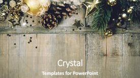 Audience pleasing PPT layouts consisting of rustic wood background for christmas with copy space for all christmas design old wood texture decorated with christmas decoration theme for wallpaper and product display in christmas time top view backdrop and a coral colored foreground.