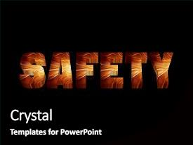 Beautiful PPT layouts featuring safety first - 3d word with backdrop and a  colored foreground.