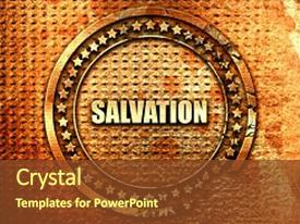 25 salvation army powerpoint templates w salvation army themed audience pleasing ppt theme consisting of salvation 3d rendering text on backdrop and a tawny brown toneelgroepblik Gallery