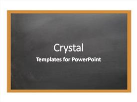PPT theme featuring school black board background and a dark gray colored foreground.