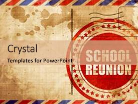 50 high school reunion powerpoint templates w high school reunion amazing presentation design having school reunion red grunge stamp backdrop and a coral colored foreground toneelgroepblik Gallery