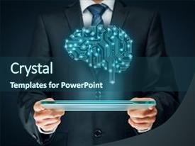 Intelligence powerpoint templates ppt themes with intelligence ppt theme with science artificial ai data mining background and a ocean toneelgroepblik Gallery