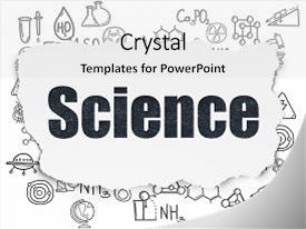 Presentation theme enhanced with science concept painted black text background and a white colored foreground