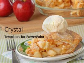 Apple pie powerpoint templates crystalgraphics slide set featuring apple pie scoop of ice cream background and a coral colored foreground toneelgroepblik Images