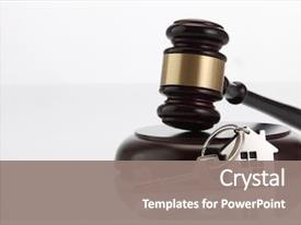 Colorful PPT theme enhanced with selling of bidding or law backdrop and a gray colored foreground