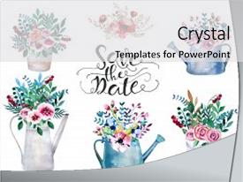 PPT layouts with shabby chic style tulip lavande background and a  colored foreground.