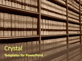 Slides enhanced with shelves of old law books background and a tawny brown colored foreground.