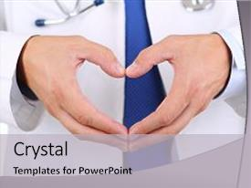 Colorful presentation theme enhanced with showing heart shape closeup medical backdrop and a  colored foreground.