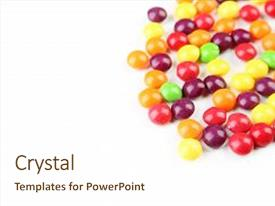 Presentation Theme Featuring Skittle Candy
