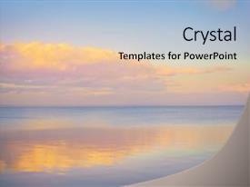 Slide deck with sky background on sunset nature background and a light gray colored foreground.