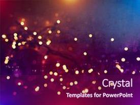 PPT theme consisting of light - sky - bokeh with multi background and a violet colored foreground.